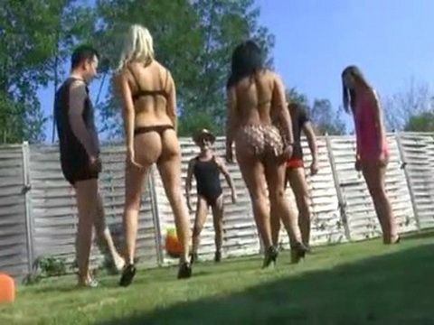 Backyard Party Turns Into Group Fuck