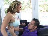 Charming Big Boobed Milfs Pussy Is Something That Boy Wanted To Try Since Ever