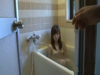 Japanese Step Sister Interrupted While Taking A Bath Uncensored