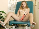 Horny Girl Masturbates In Doctor's Office