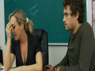 Devastated Milf Teacher Just Got Divorce Papers And Student Boy Wanna To Cheer Her Up