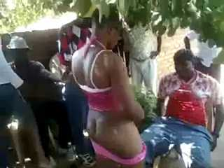 African Hooker Providing Sexual Services On The Street