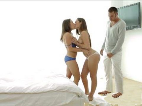 Lucky Guy Fucking Two Hot Bitches In Threesome
