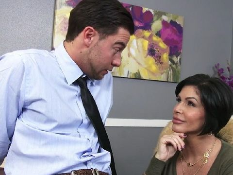 Busty MILF Boss Gave Him Proposal He Can't Refuse