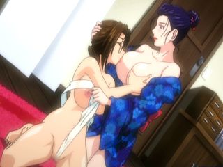 Japanese lesbian anime with bigboobs squirting milk