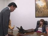 Immoral MILF Boss Chisato Shoda Forced Her Employee To Lick Her Pussy Or To Get Fired