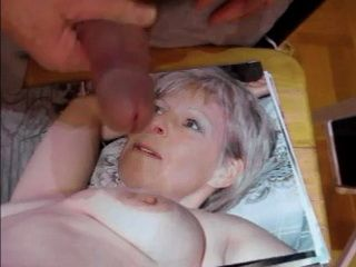 Jerking Cock On Mature Woman Photo
