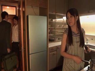 Sexy MILF Housewife Sakuragi Yuki Gets Swooped In The Kitchen By Husbands Best Friend