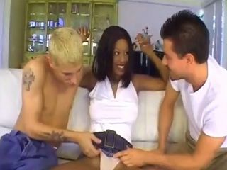 Little Convincing Is All You Need To Fuck Hot Ebony In A Threesome