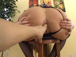 Ass Fingered Bootylicious Blonde Is Now Ready For Hard Anal Sex