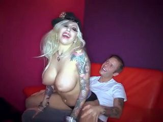 Busty Stripper In Police Uniform Gives Private Lapdance And Gets Anal Creampie