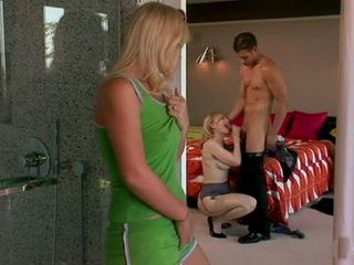 Horny Stepmom Wants To Try Her Son In Law And Get Busted By Her Stepdaughter
