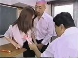 Japanese Threesome In A Classroom