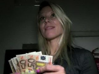Blonde Is Fucking With A Stranger For Money