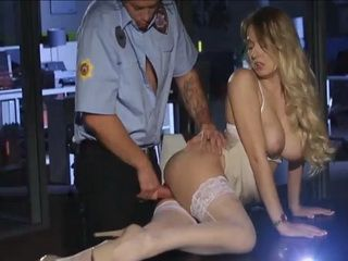 Busty Business Milf Works Overtime And Made Security Guard To Love Night Shift Again