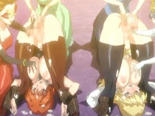 Two shemales anime bondaged and handjob