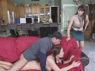 Eva Karera and Holly Hudson hot threeway