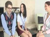 Prof Ava Addams 3way with her students