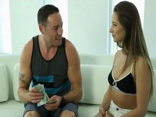 Sexy masseuse Cassidy Klein gets extra money for facial
