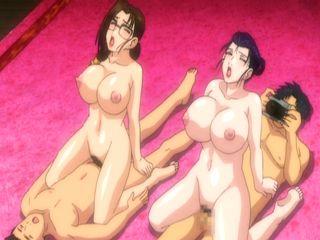 Busty Japanese anime groupfucking and film it