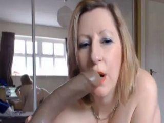 Naughty Busty Welsh Mature Masturbating On Webcam