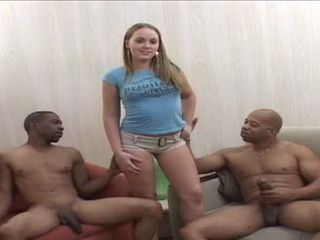 Young Girl Was Forced To Try To Monster Black Cocks
