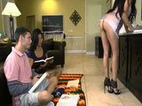 Boy Had Hard Time to Concentrate On Studying While Gfs Hot Milf Mom Teasing Him