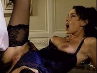 Brunette In Lingerie Takes a Black Cock Deep In Her Ass