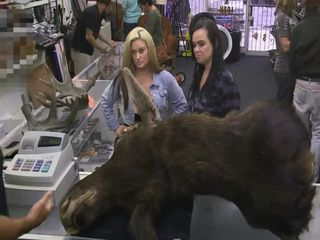 Two Lesbos Came To Pawn Moose Head And Ended Up Fucked