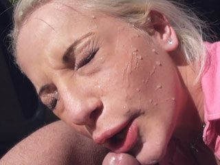 Hitchhiker Brooke Lee fucked and facial