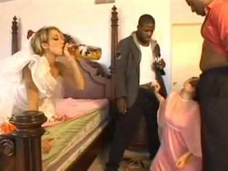 Wasted Drunk Bride And Bridesmaid Gets Fucked By 2 Black Vendors Moments Before Wedding Ceremony