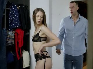 Perverted Stepbrother Came In Dressing Room And Get Horny On His Little Stepsister