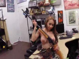 Hot little stripper got fucked in the pawnshop