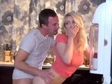 Blonde Teen Hold On Her Moan When Freinds Bf Shoved His Cock Deep Into Her Pussy In The Kitchen