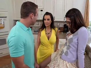 Stepmom Teaches Teenage Couple How to Fuck