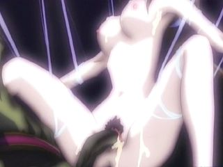 Anime cutie caught and drilled by tentacles