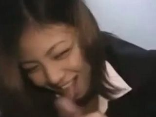 Hot Amateur Japanese Sucking And Fucking Strangers Cock With A Smile On Her Face