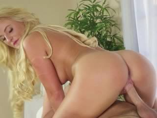 Sexy blond masseuse fucked by her client