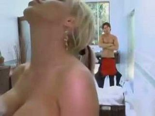 Spying On Uncles Busty MILF Wife Showering End Up With Hardcore Fucking
