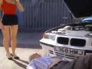 Smell Of Fresh Pussy Totally Distracted Old Mechanic While Repairing A Car