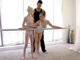 Ballet Class With Two Damn Hot Ballerinas Went