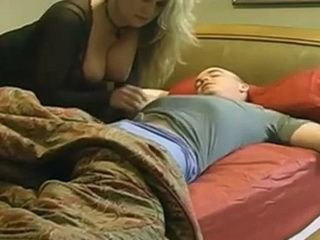 Busty Milf Mother Awakes Sleepy Boy