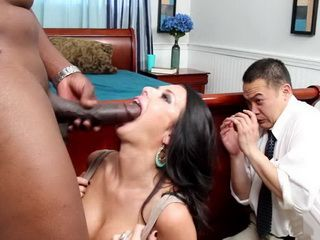 Dirty MILF Makes Her Hubby Jealous Watching In This Giant Black Cock