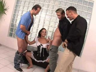 Slutty Maid Knows How To Use Her Break Time