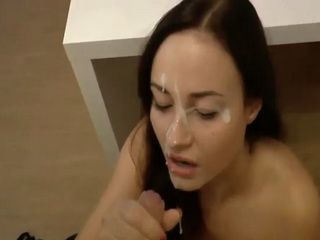 Sexy Teen With Pierced Tits Gets messy Facial After Hard Fuck
