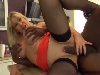 Busty Mature Milf Fucks A BBC In A Kitchen