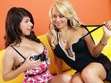 Horny Blonde Lesbian Seduces Her Hot Friend