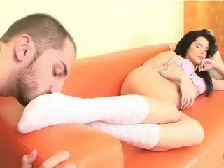 Pervert Use The Chance To Licking Her Nice Foot While She Was Sleeping