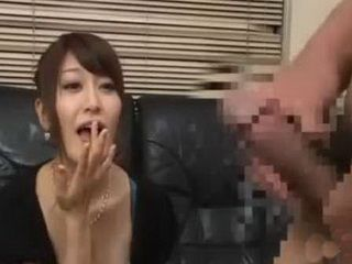 Asian Brunette Cant Wait To Fill Her Mouth With Big Cock