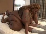 His Biggest Dream Fulfiled - Blonde Black BBW In Action